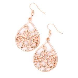Rose gold earrings paparazzi